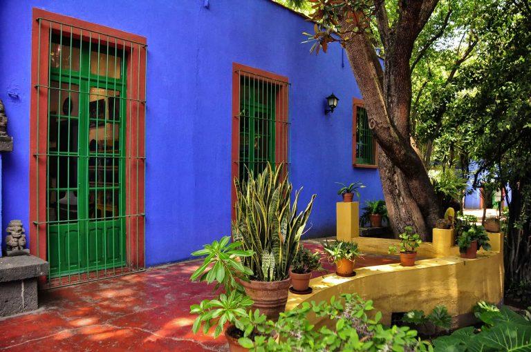 La casa azul de Frida Kahlo.