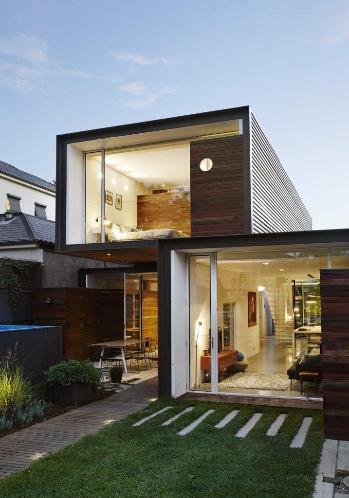 Fachadas de casas minimalistas.