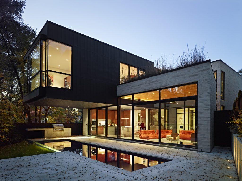 Fachadas de casas modernas de dos pisos