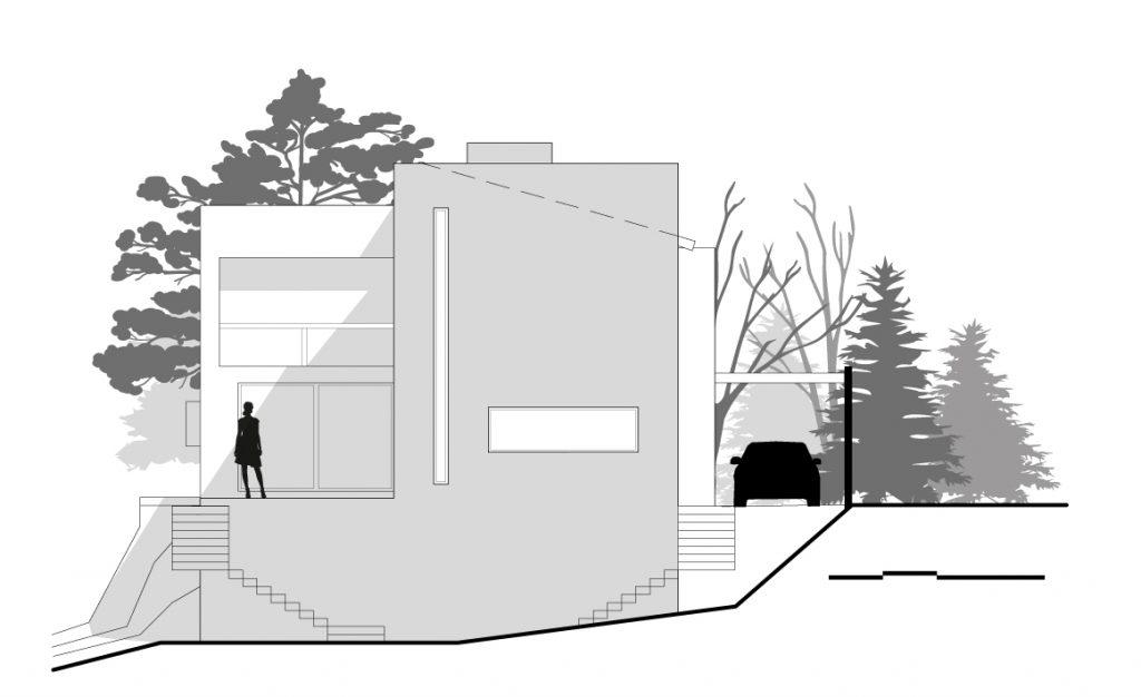 Plano de fachada de casa