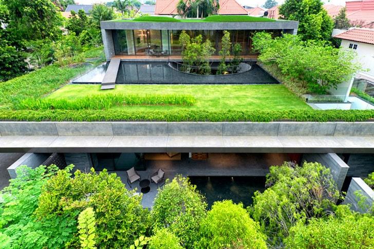Las casas con techos verdes son una idea genial para tu casa