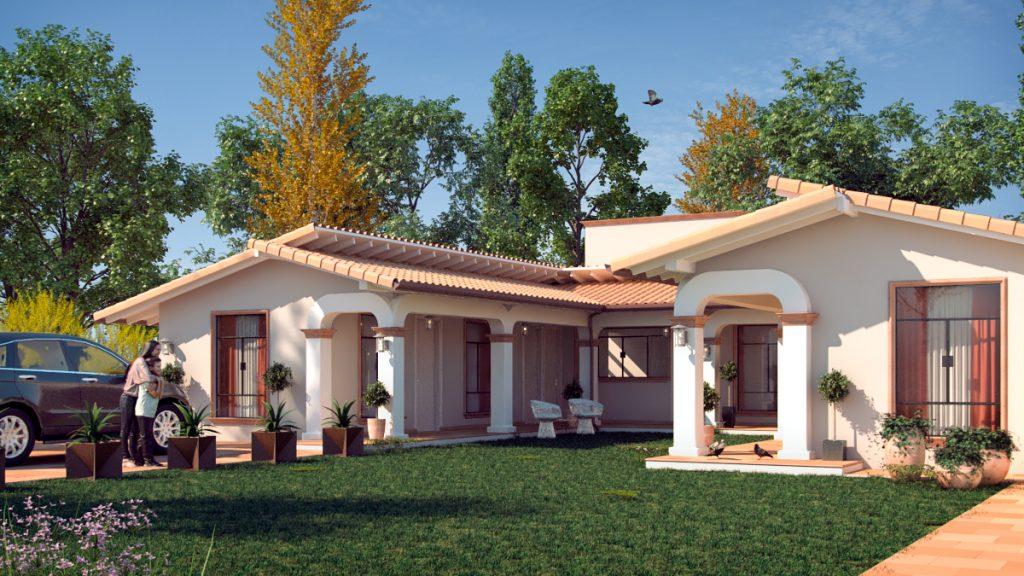 Casa colonial moderna