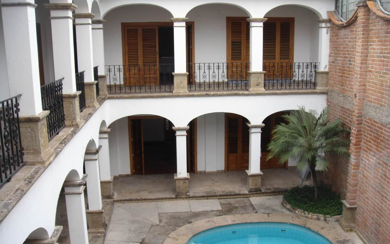 Central patio in a colonial house.