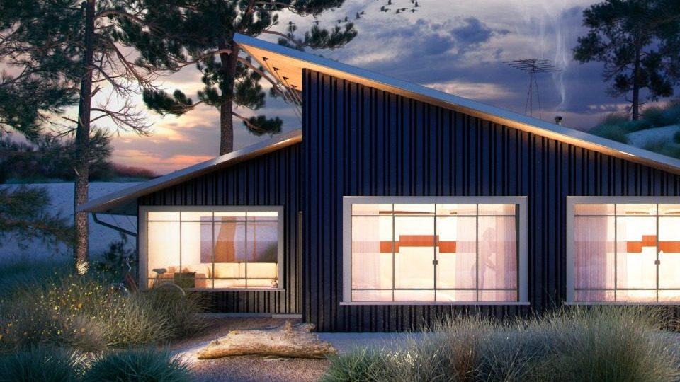 Casas pequeñas modernas. Casa de un nivel