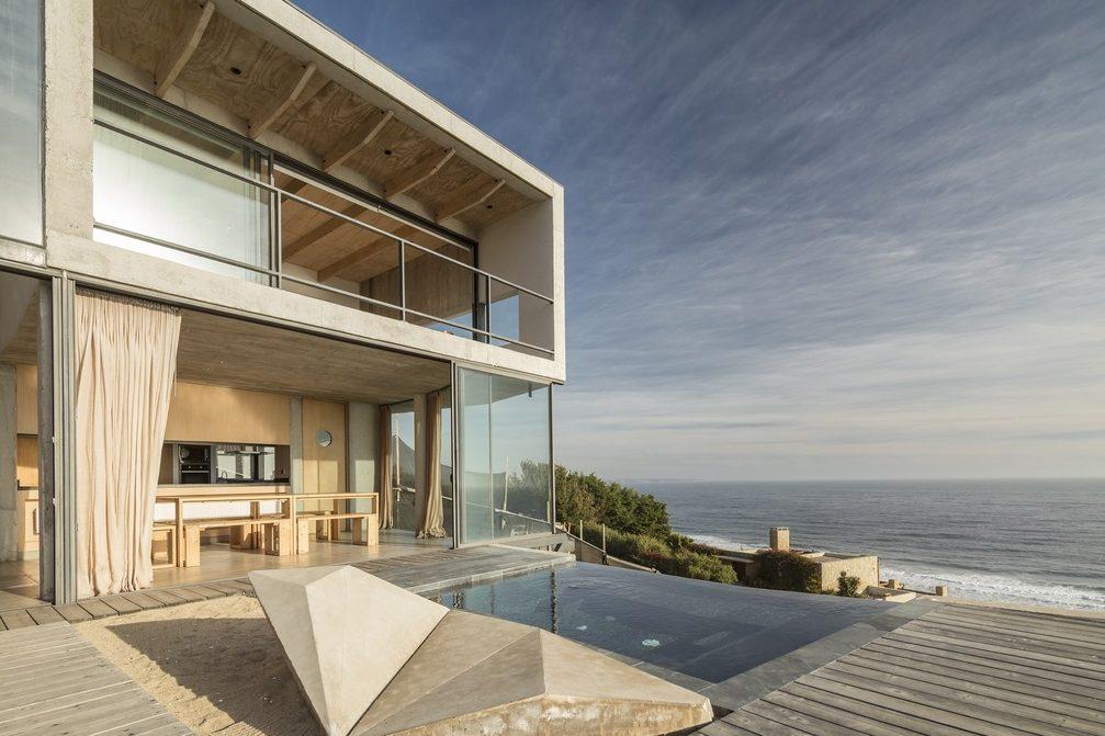 Diseño de casas de playa moderna minimalista.
