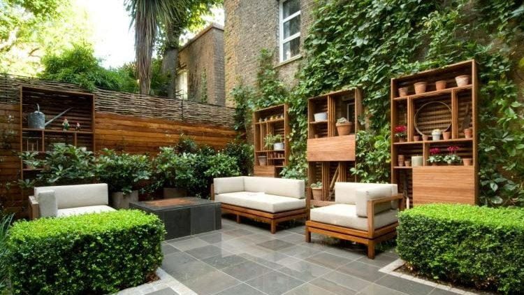 Decoración de jardines modernos.