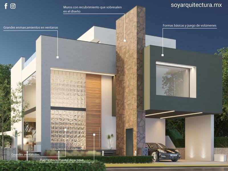 Casa moderna. Planos de casa moderna minimalista.
